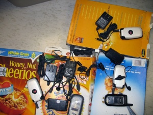 Cereal boxes have been used to smuggle cell phones to state prison inmates. Photo courtesy California Department of Corrections