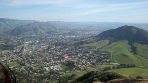 The view of San Luis Obispo from Bishop's Peak