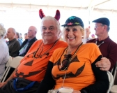 Trad. Jazz Fans Dressed Up for the Show!