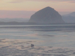 Kayaks stuck in Morro Bay Estuary