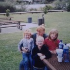 Elizabeth Carroll with her children in 2001.