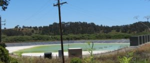 Cambria's reclaimed water retention basin
