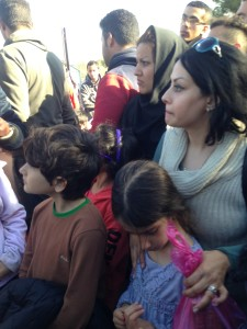 Women and children on the Greek-Macedonian border
