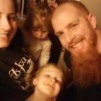 Jason Olson with his family
