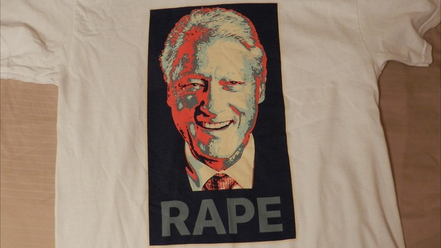 Image result for bill clinton rape shirt