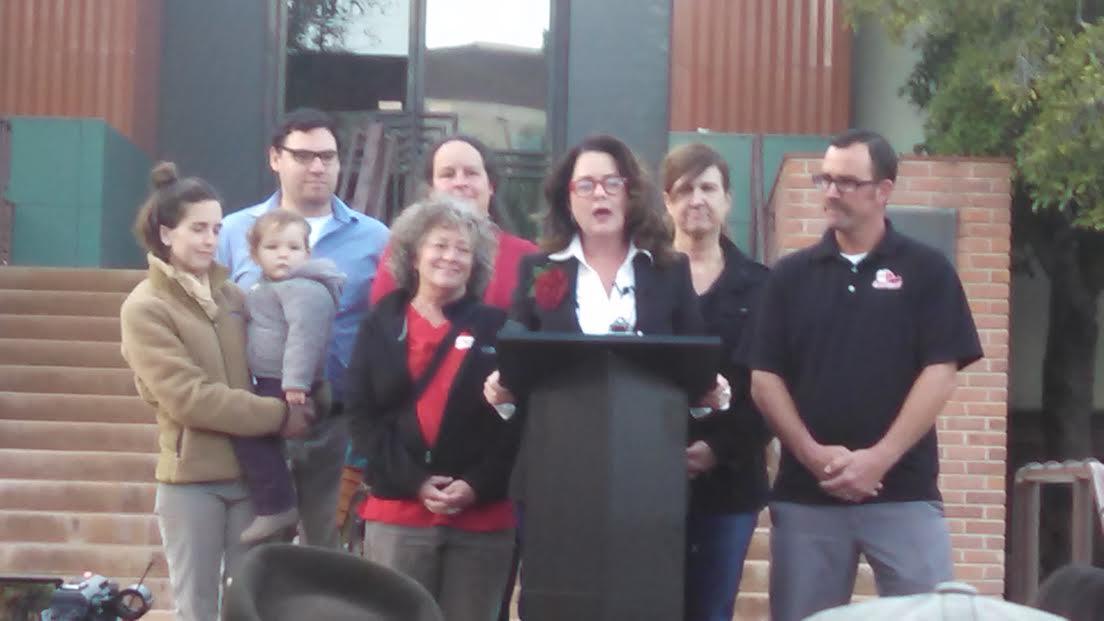 Heidi Harmon and supporters