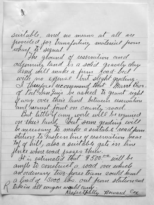 Port San Luis letter 2