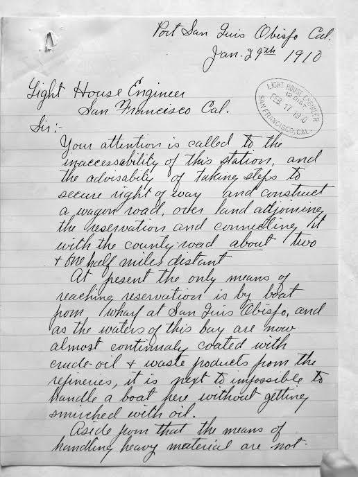 Port San Luis letter