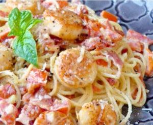 garlic Scallop Spagetti