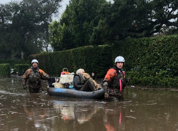 At least 8 people dead after mudslides hit fire-ravaged California community