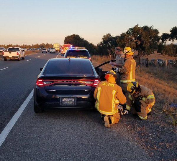 three people injured in three car crash in nipomo