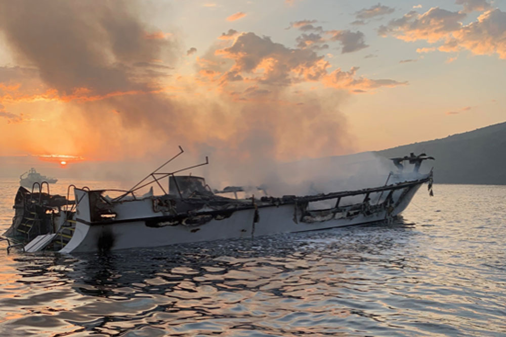 20 bodies from boat fire off coast of Calif. recovered